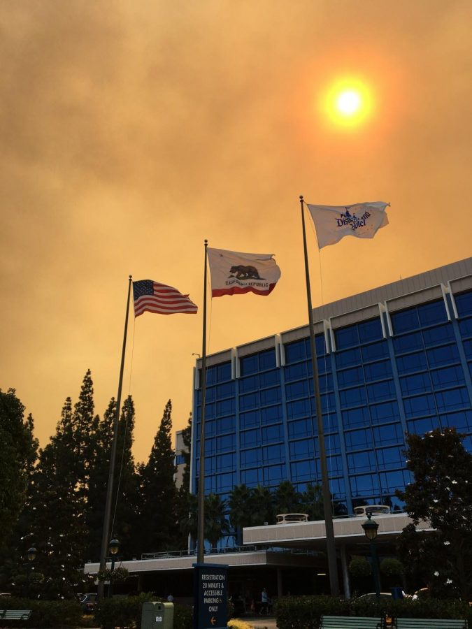 Wildfire smoke extends 11.6 miles out; Covering Sunny Skies in Disneyland