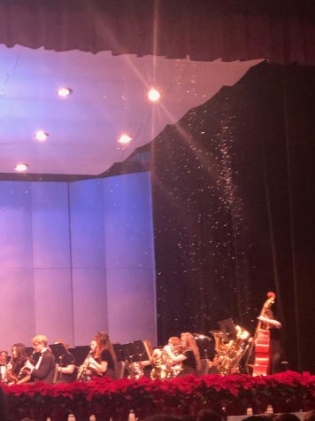 "Wind Ensemble played a moving rendition of the traditional Winter song ""Sleigh Ride"""