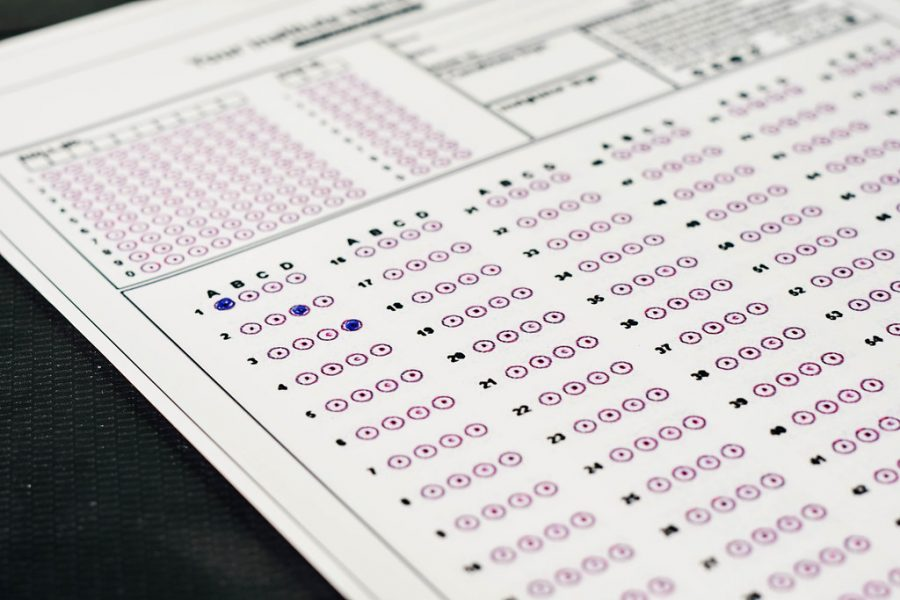 """""""Standardized test exams form with answers bubbled"""" / Marco Verch / https://www.flickr.com/photos/30478819@N08/51038121971 / CC BY 2.0"""
